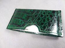 Genuine Green Alligator Skin Deluxe Credit Card Sleeve, Card holder, Wallet 1