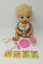 Baby Alive Real Surprises Baby Blonde 2006 Soft Face Doll & Original Accessories