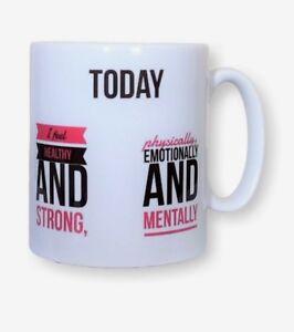 Positive Affirmations Mug - Today I Feel... 10% Goes To MIND. Mental Health