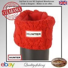 CLEARANCE: Hunter Boot Socks Dual Cable Cuff Military Red Large UK6-8