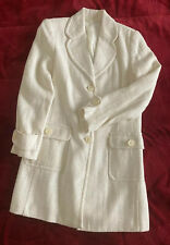White Winter Casual Large coat women Size 6, Never Used