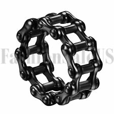 Men's Punk Stainless Steel Motorcycle Biker Chain Link Jewelry Ring Band SZ 7-15