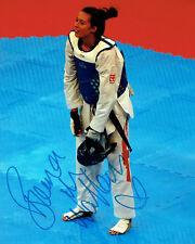 Bianca WALKDEN Taekwondo Olympics Autograph Signed 10x8 Photo 2 AFTAL COA