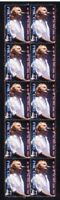 PHIL COLLINS STRIP OF 10 MINT UK POP MUSIC VIGNETTE STAMPS 2