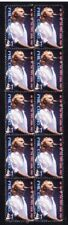 PHIL COLLINS STRIP OF 10 MINT UK POP MUSIC VIGNETTE STAMPS 2