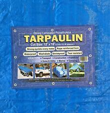 TARPAULIN Blue Heavy Duty Tarp Cover Waterproof 3.5m x 5.3m (12 ft x 18 ft)