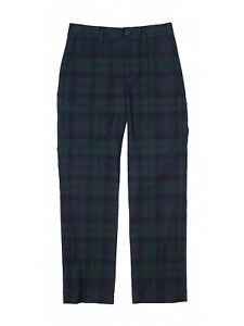 New Boy Ralph Lauren Navy Blue Green Tartan Plaid Holiday Dress Pants Size 12