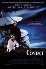 CONTACT Movie POSTER 27x40 Jodie Foster Matthew McConaughey James Woods Tom