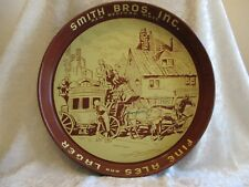 Rare Htf Antique Smith Bros. Inc. New Bedford, Mass Beer Serving Tray