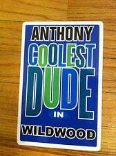 ANTHONY Coolest Dude In Wildwood New Jersey Personalized Wall Door Sign TONY NJ