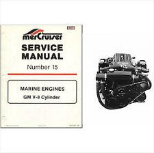 89-92 Mercury MerCruiser #15 GM V-8 Service Repair Manual CD .. Alpha Bravo