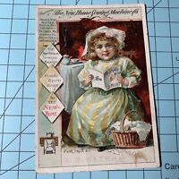 The New Home Sewing Machine Victorian Trade Card C1890 Girl / Older Lady