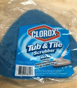 CLOROX Tub and Tile Scrubber Refill Pad Non Scratch Antimicrobial Bathroom NOS