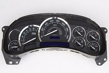 NEW 03-06 ESCALADE PREMIUM 140mph 7,000k BLACK FACE COMPLETE REPLACEMENT CLUSTER