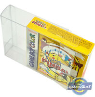 GameBoy BOX PROTECTOR for Pokemon Pinball Rumble Game 0.5mm PLASTIC DISPLAY CASE