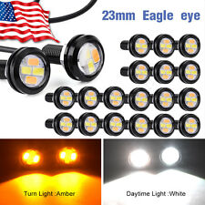 20x Dual Color LED Eagle Eye Light 23MM 5730 Switchback Daytime Running Lamp US