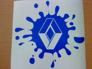 "small 6x6"" paint splat renault clio megane sport vinyl car sticker decal graphic"