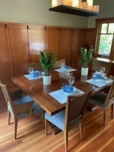 Beautiful dining room set 6 chairs used- solid Cherry