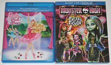 Kid Blu-ray DVD Lot - Barbie in the Pink Shoes (Used) Monster High Freaky Fusion