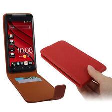 Vertikal Flip Tasche für HTC Butterfly X920e in rot mit extra Kartenfach Cover