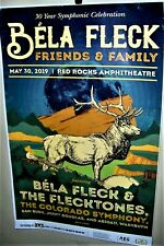 Bela Fleck Friends & Family Show Poster May 30th 2019 Denver Co Red Rocks Cool