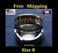 Masonic Freemasonic Silver & Gold Ring, Tungsten Steel - Size 8
