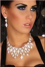 Earrings necklace crystal Rhinestone bridal wedding costume jewlery accessories