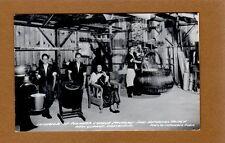 RPPC New Glarus,WI Wisconsin Swiss Historical Village Interior Cheese Factory