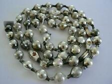 50� Antique Germany Vintage Silver Christmas Ball Small Bead Garland