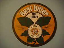 Beer Coaster ~*~ NIAGARA FALLS Brewing Co Grindstone Premium Ale, Saaz Pilsner +