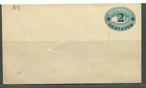 GUATEMALA 2C POSTHORN SURCHARGED MINT POSTAL STATIONERY ENVELOPE AS SHOWN