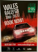Mikko Hirvonen Hand Signed Welsh Rally Poster Rare Wales GB 2007.