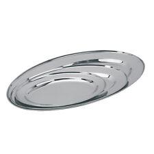 Plato de acero inoxidable oval x 3 Bandeja de presentación/Servicio Entradas