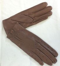 Reed Hill Mens Leather Show Gloves Acorn Brown SMALL  -MADE IN USA