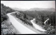 CRESCENT CITY CA~1940's Switchback Redwood Highway ~ Grants Pass ~PATTERSON RPPC