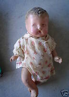 Vintage Composition Baby Girl Bottle Doll LOOK