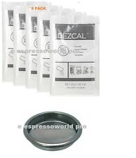 URNEX DEZCAL COFFEE MAKER & ESPRESSO DESCALER - 5 PACK & Backflush Disk Blind