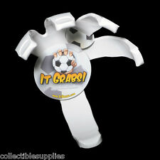 """Soccer Ball Volleyball Hand Holder Claw Wall Mount Display by """"It Grabs"""" - WHITE"""