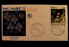 MONACO PREMIER JOUR FDC YVERT  1483+1486       POISSONS      3,90+1,80F     1985