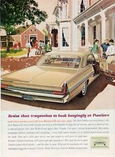 1962 Pontiac PRINT AD Bonneville 2-door at horse Stables