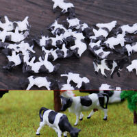 25pcs 1/150 N Scale Model Farm Animal Cows for Railroad Train Sand Table Layout