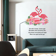 Tropical Lover Flamingos Wall Stickers Wardrobe Decal Bar Window Art DecorEP