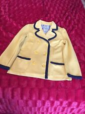 Lacoste Authentic Preppy Blazer Yellow With Blue Piping US 6