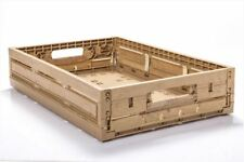 10 St Obststeige Kartoffelkisten Gemüsekisten Holzdesign 600x400x115mm Gastlando