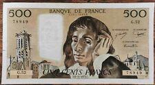 Billet 500 francs PASCAL 6 - 11 - 1975 FRANCE G.52