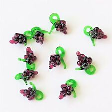 10pc Mini Grapes Glass Lampwork Fruit Murano Glass Grapes wine charm beads Craft