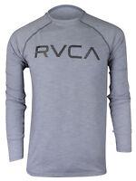 RVCA Mens VA Sport Micro Mesh LS Surf T-Shirt - Gray Noise