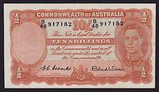 Ten Shillings Australian Banknote 1952 Coombs Wilson R15 B/48