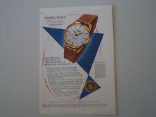 advertising Pubblicità 1959 OROLOGIO LONGINES FLAGSHIP
