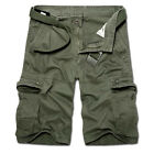 Mens Military Camo Combat Army Cargo Pants Shorts Work Hiking Trousers Bottoms